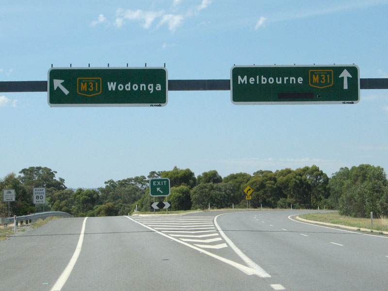 Road Photos & Information: Victoria: Hume Freeway (M31