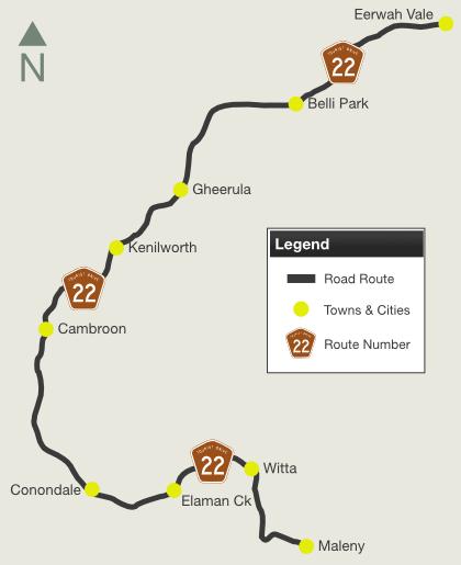 Road Photos Information Queensland Kenilworth Tourist Drive